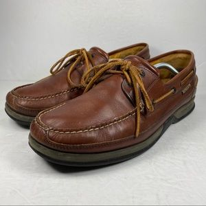 Mephisto Spinnaker Leather Boat Shoes Loafers